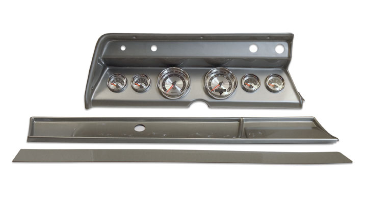 1966 Chevelle Classic Dash Panel Brushed Alum. W/ Auto