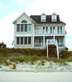 casa al mare sulla spiaggia