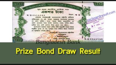 Prize Bond Draw Result