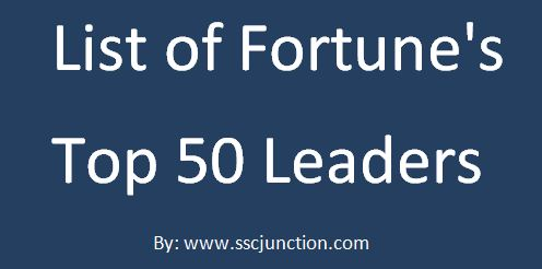 fortune's top 50 leaders list