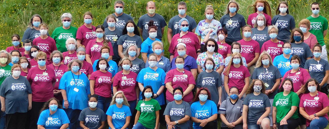Nurses, CNAs, Dietary Aids, and staff at Sheboygan Senior Community.