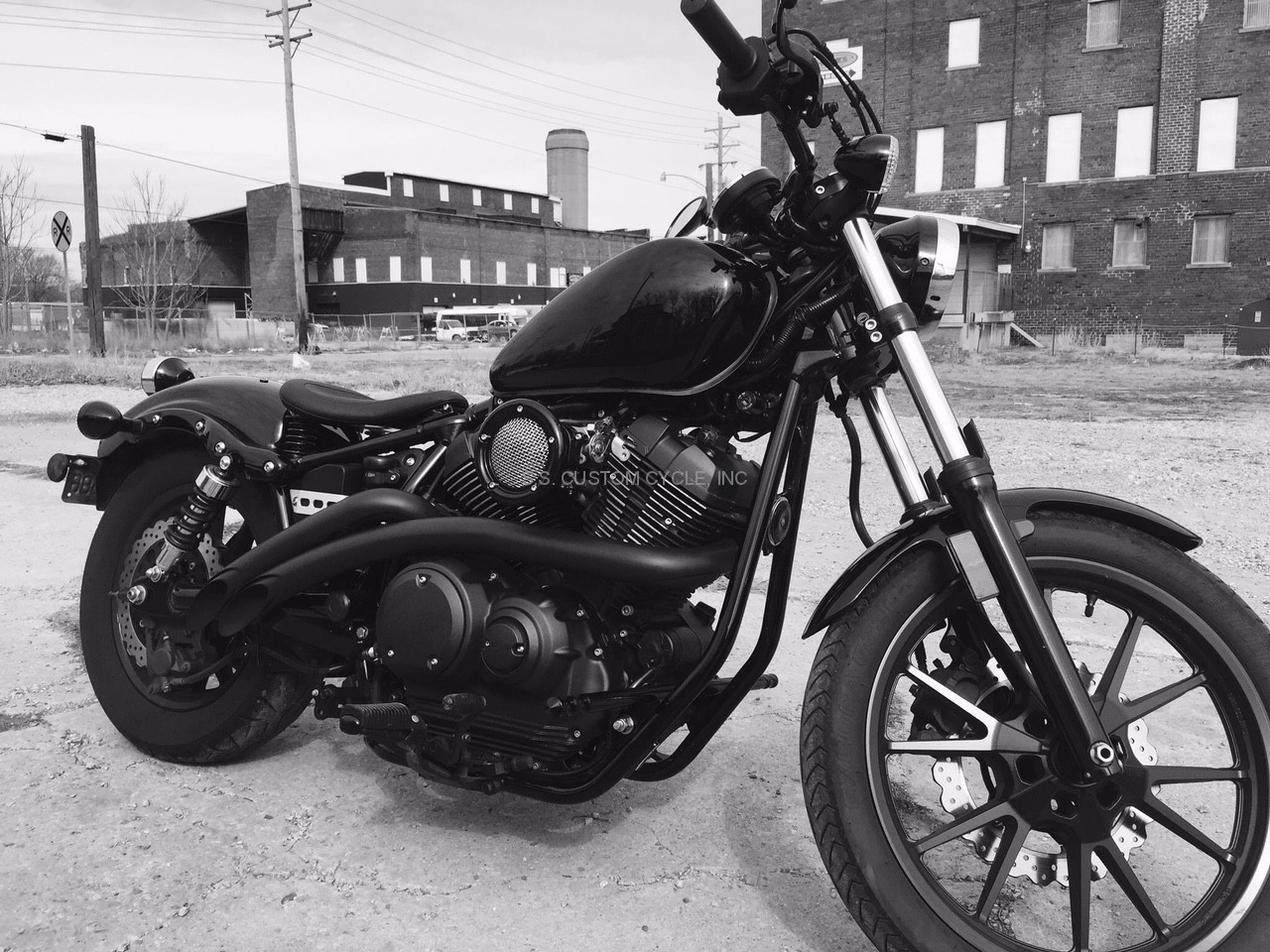 bassani radial sweepers exhaust for star bolt ss custom cycle