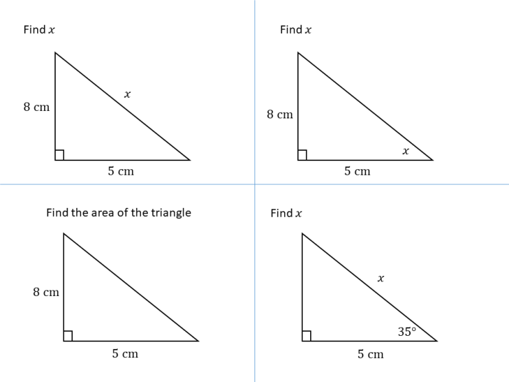 Right-angled triangles 6 – SSDD Problems