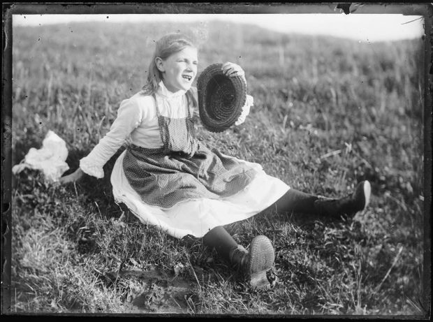 Fig. 2. Photograph of a Kirkcudbright Girl, attributed to E. A. Hornel, c.1890 | © National Trust for Scotland, Broughton House and Garden