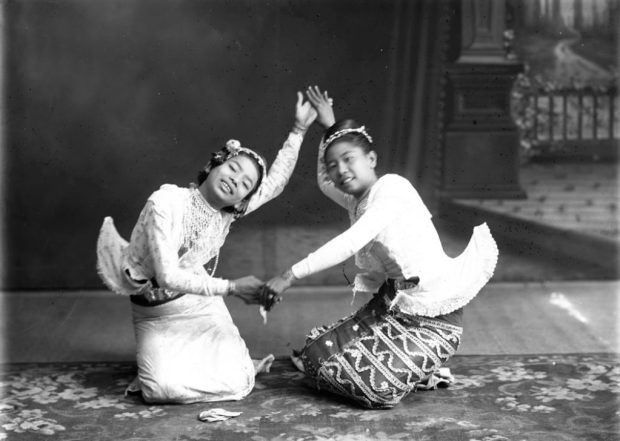 Fig. 23. Two Burmese Dancers, photographer unknown, c.1920 | © National Trust for Scotland, Broughton House and Garden