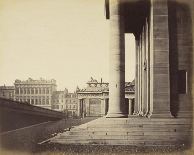 The National Gallery and Royal Institution (Royal Scottish Academy), Edinburgh, About 1858