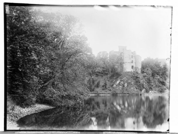 Glass plate negative of Invergarry Castle