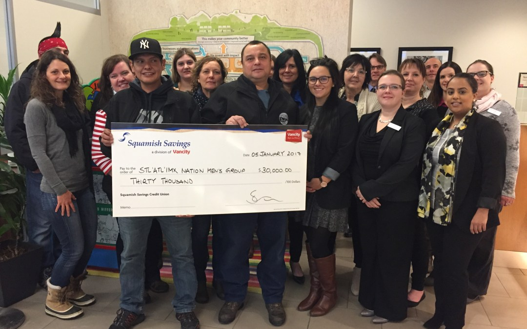 Men's Group Receives Grant from Squamish Savings