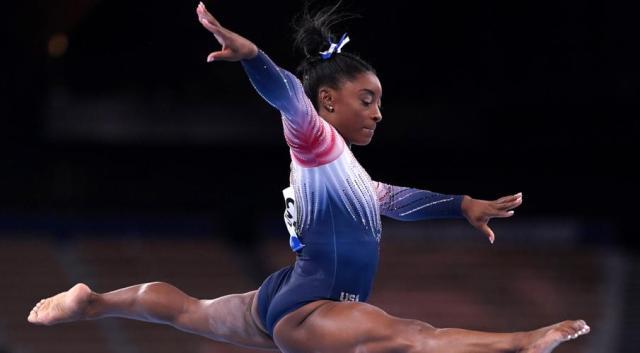 Biles makes Olympics return, wins bronze on beam