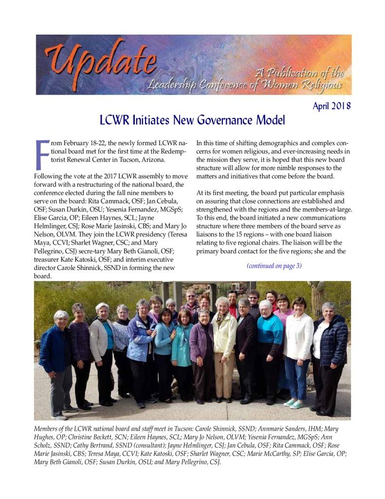 thumbnail of April 2018 Newsletter