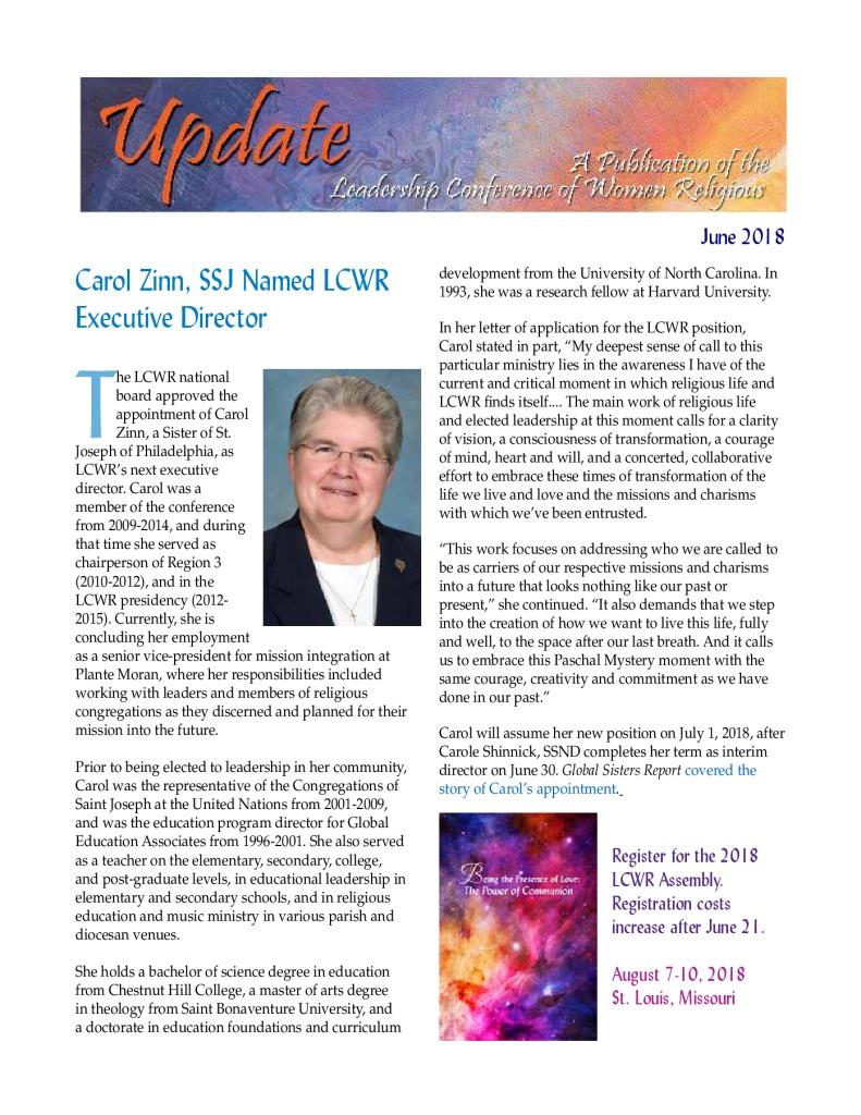 thumbnail of June 2018 LCWR Newsletter