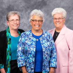 Left-right: Carol Morehouse, SSJ; Mary Drexler, SSJ; Phyllis McCracken, SSJ.