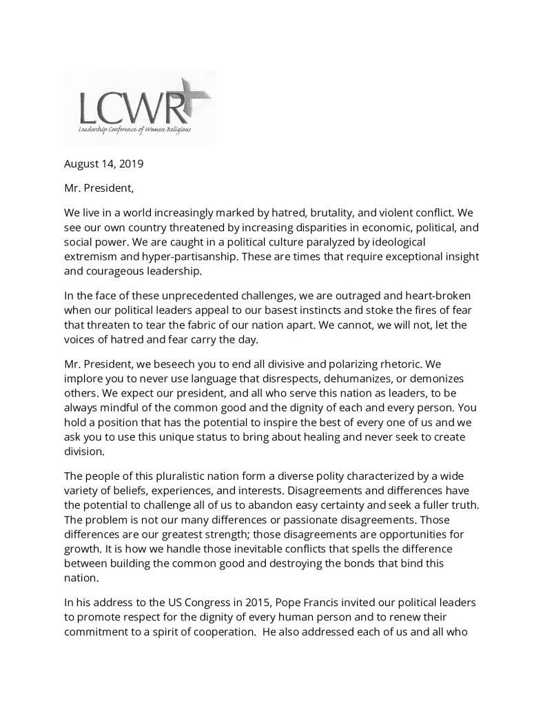 thumbnail of LCWR letter