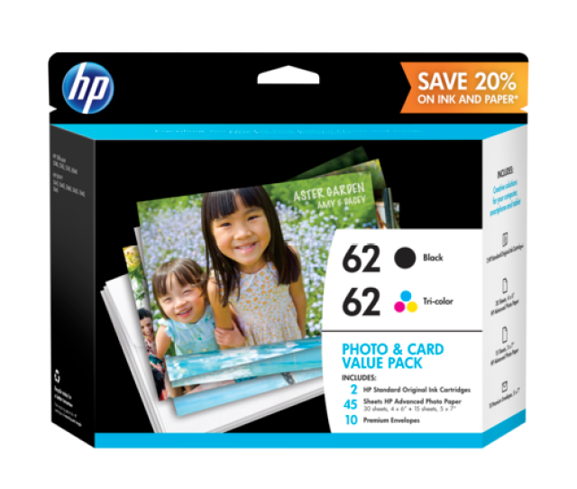 Hp 62 Photo And Card Value Pack  X 6 In And