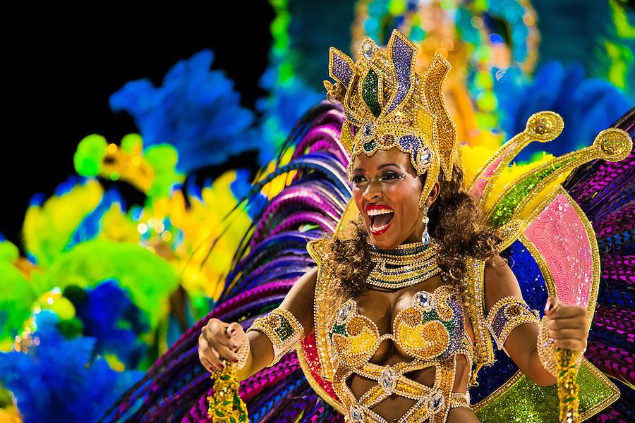 Carnival In Sambodromo Rio De Janeiro Brazil Jan