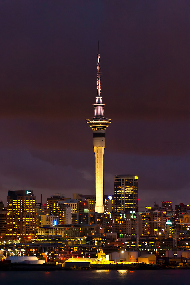 Skyline Of Auckland Featuring The Sky Tower The Tallest