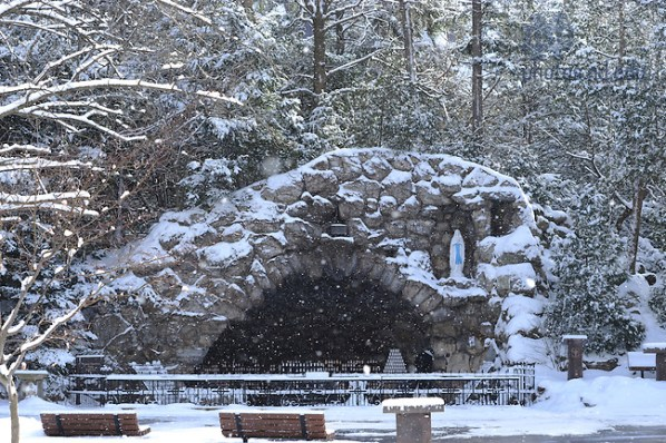 Image result for winter snow notre dame