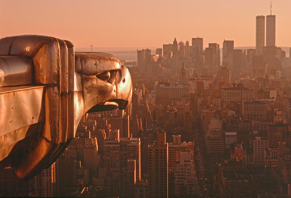 New York Chrysler Building Eagle Gargoyle New York City