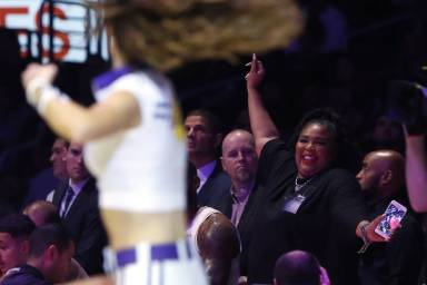 Joe Rogan & Michelle Wolf Think Lizzo's Lakers Outfit Was