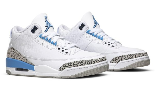 "Air Jordan 3 ""UNC"" Pegged For March Release: Official Photos"