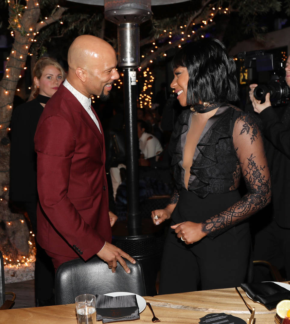 Common, Tiffany Haddish, Bald