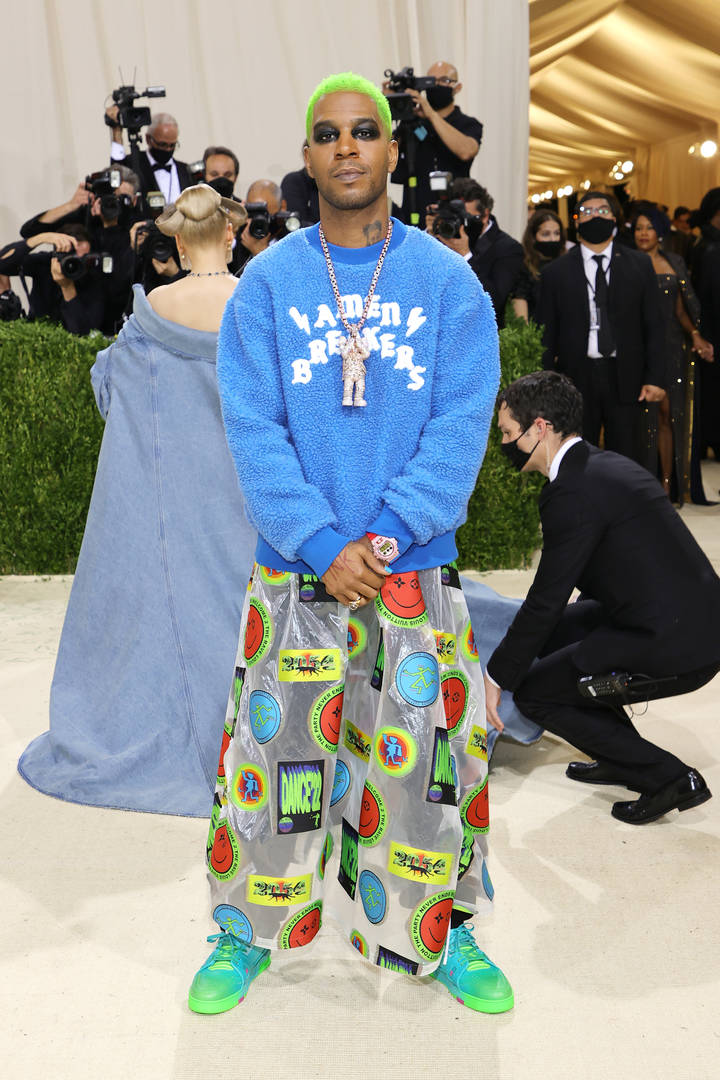 Kid Cudi attends The 2021 Met Gala Celebrating In America: A Lexicon Of Fashion at Metropolitan Museum of Art on September 13, 2021 in New York City.