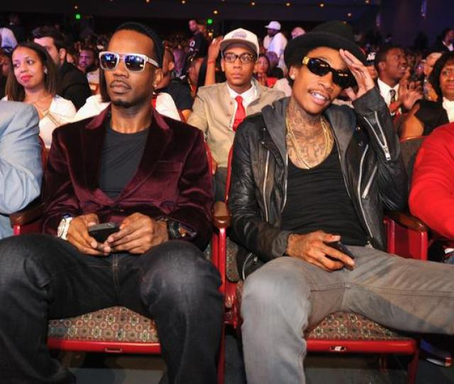 Wiz Khalifa And Juicy J At The  Bet Hip Hop Awards