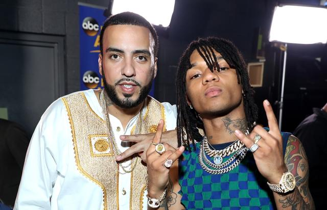 French Montana and Swae Lee backstage at BET Awards