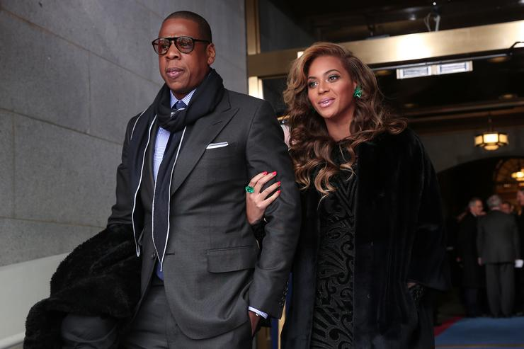 910192271f5 Jay-Z and Beyonce arrive at the presidential inauguration on the West Front  of the