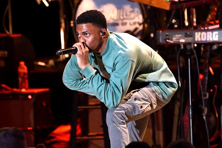 Vince Staples performs onstage during the Mac Miller: A Celebration of Life benefit concert on October 31, 2018 in Los Angeles, California