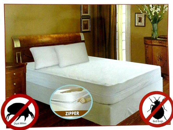 Waterproof Bedbug Proof Allergen Zippered Vinyl Mattress Cover Protector 4size Full Ebay
