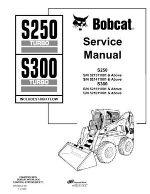 BOBCAT 553 REPAIR MANUAL SKID STEER LOADER 516311001 IMPROVED  Auto Electrical Wiring Diagram