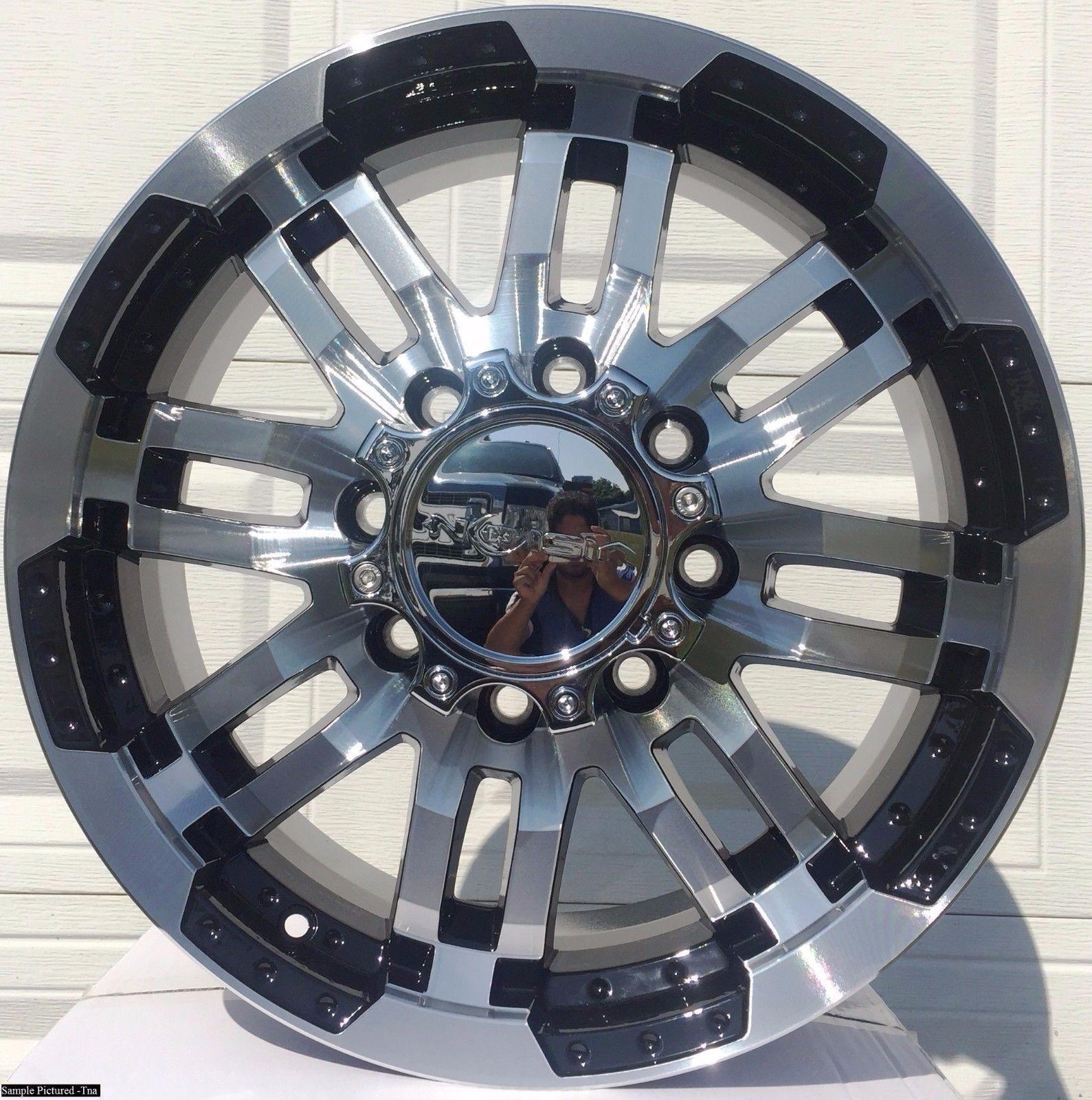 "4 20"" Wheels Rims for Hummer H2 Ford E 150 Nissan NV 1500 2500"