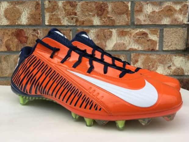 Orange+And+Blue+Football+Cleats