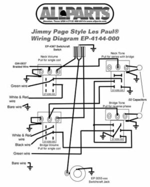 Wiring Kit for Gibson® Jimmy Page Les Paul Complete W