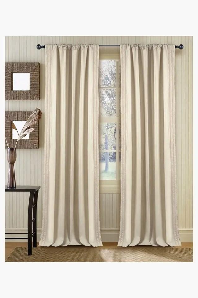 1 piece rod pocket curtain