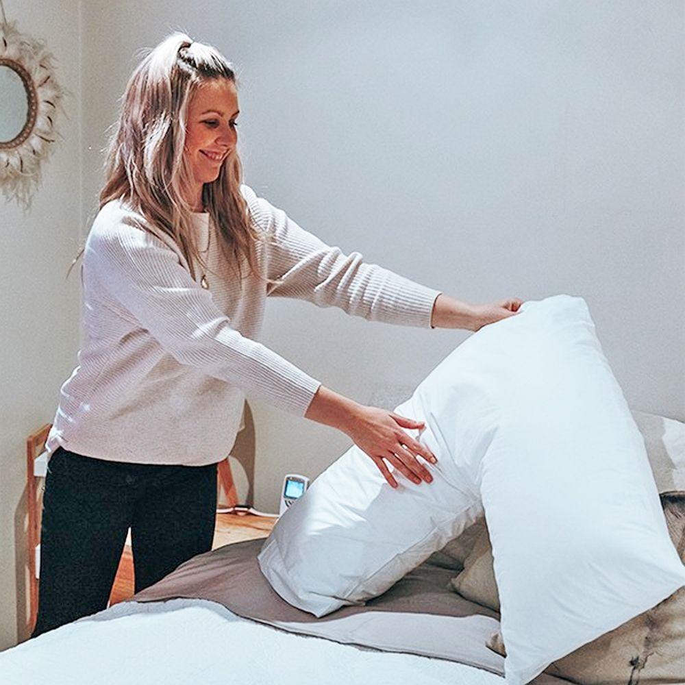 bambi sensitiva v shape boomerang pillow and cotton pillowcase