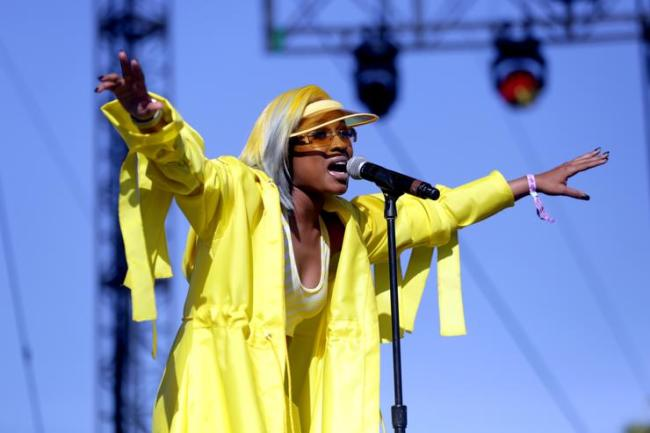 DeJ Loaf performs onstage during the 2018 Coachella Valley Music And Arts Festival at the Empire Polo Field on April 22, 2018 in Indio, California