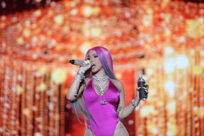 Cardi B performs at Rolling Loud Miami 2019 at Miami Gardens on May 11, 2019 in Fort Lauderdale, Florida