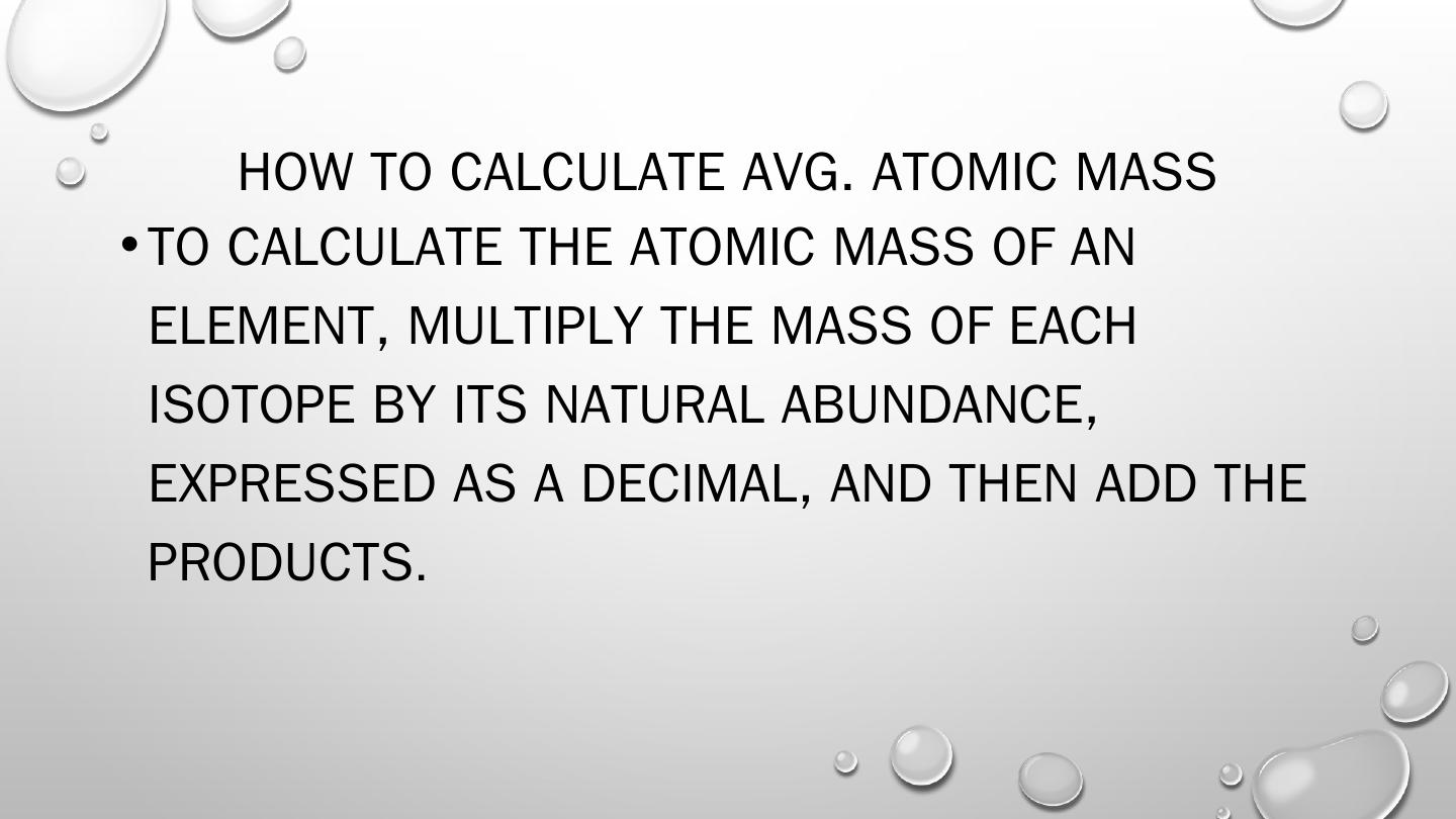 Calculating Average Atomic Mass Pptx