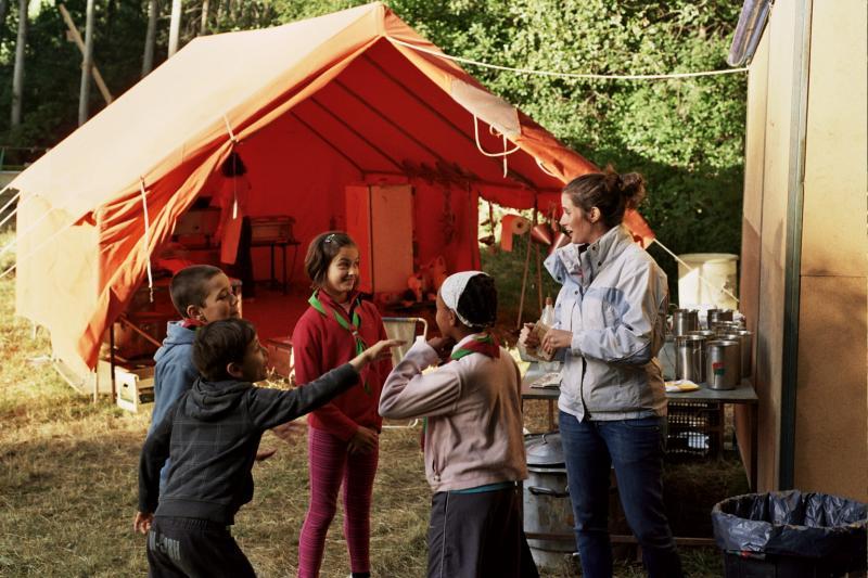 Divirtiéndose en el campamento 2011