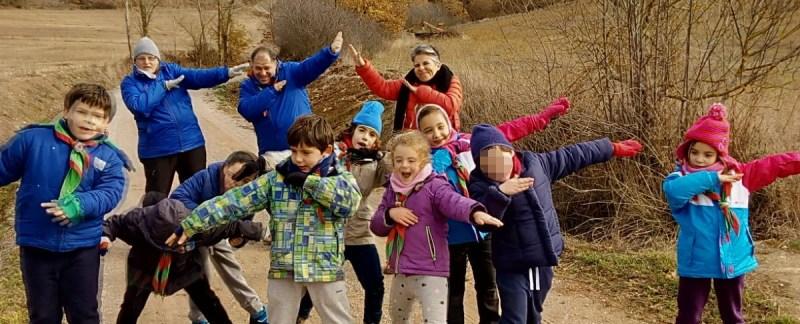 La unidad de Castores del Grupo Scout San Miguel de acampada en Gama (Palencia) el último fin de semana de noviembre del 2017.