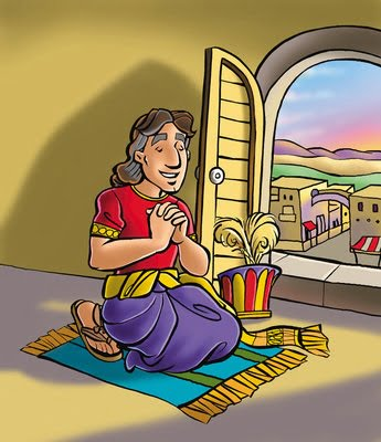 Daniel Prays by Open Window