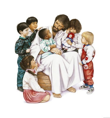 Jesus Shares Time With Children
