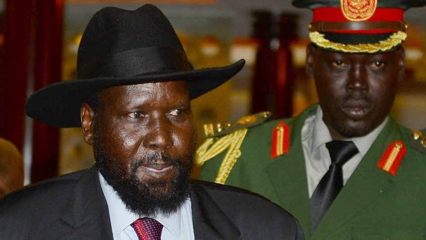 South Sudan President, Salva Kiir Mayardit, and his bodyguard, getty image...