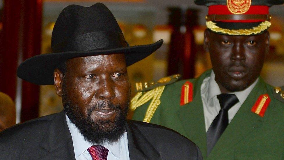 South Sudan President, Salva Kiir Mayardit, and his bodyguard, getty image...