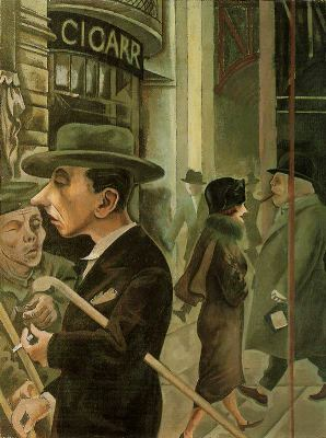 Escena callejera 1925 George Grosz