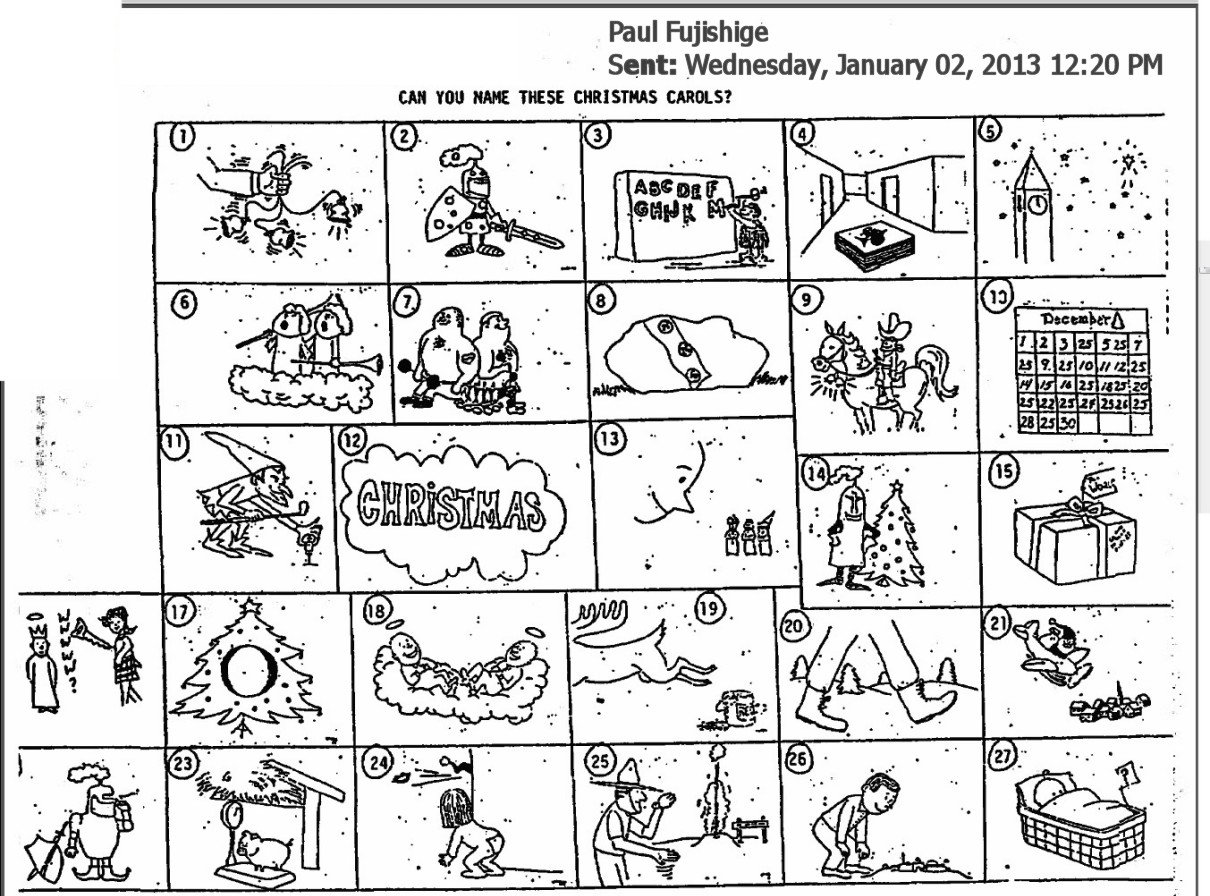 Christmas Brain Teaser Worksheet