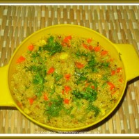 Sprouted Dalia(Broken Wheat) Upma