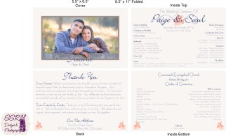 Paige & Saul Wedding Programs 1